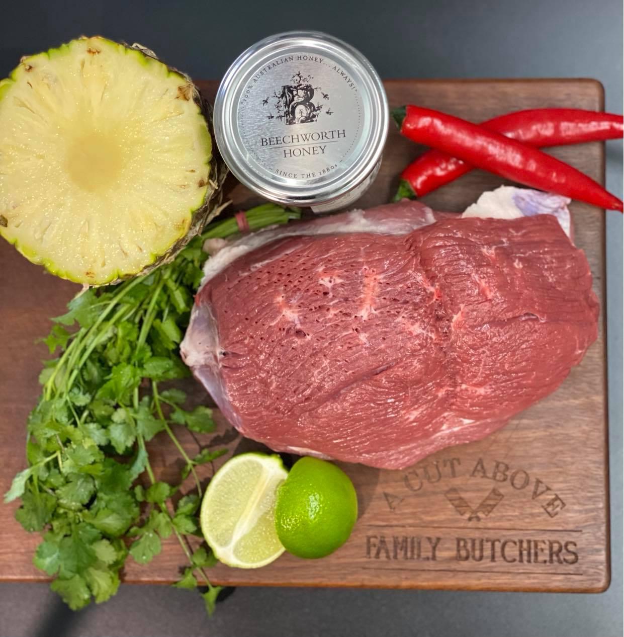 honey pineapple and chilli lamb leg recipe from Australian lamb
